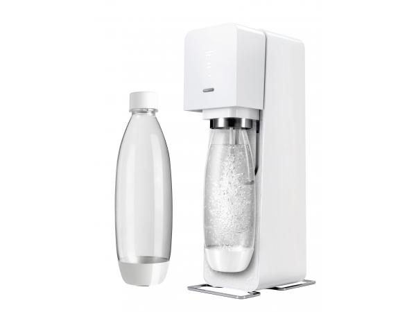 machine soda source blanche 2 bouteilles sodastream. Black Bedroom Furniture Sets. Home Design Ideas